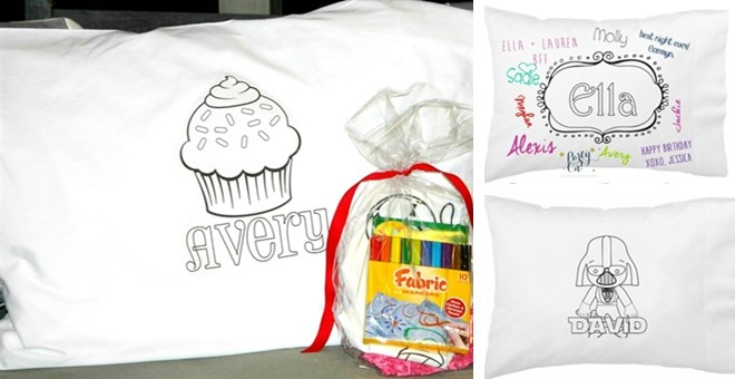 personalized kids color on pillowcases my momma taught me