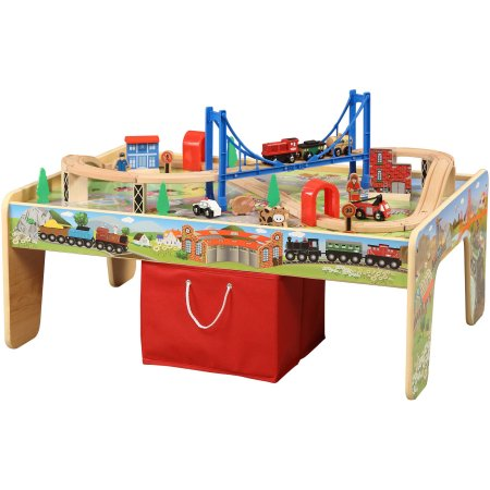 50-Piece Train Set with 2-in-1 Activity Table Only $37.00 (reg $59)