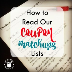 How To Read Our Coupon Matchups Lists