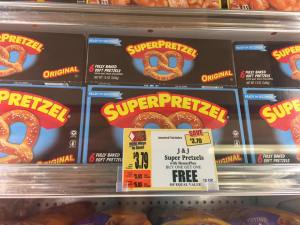 J&J Superpretzles Bogo At Tops Markets