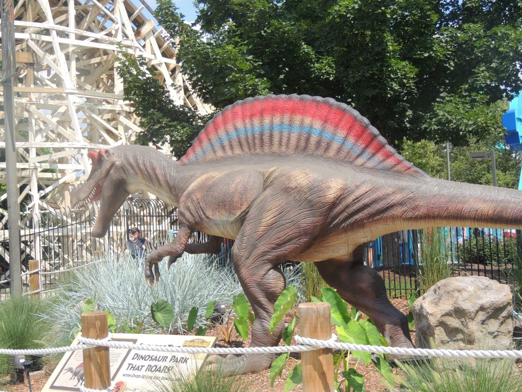 Dinosaur At Dorney Park 2