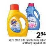 Tide Simply Clean 40 Oz Or Downy Liquid 34 Oz Cvs