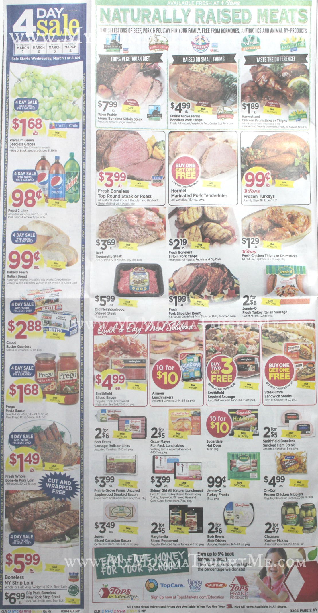 Tops Markets Ad Scan Week Of 2-26-17 to 3-4-17 Page 2