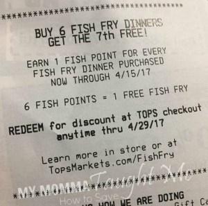 Free Fish Fry Promo At Tops
