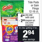 Gain And Tide Pods Sale At Cvs
