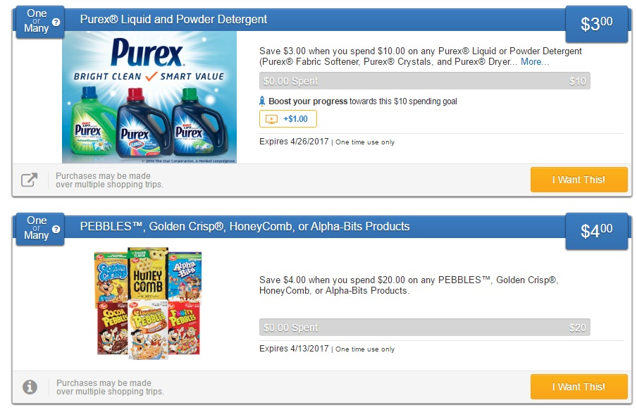 New Savingstar Offers On Purex And Post Cereal