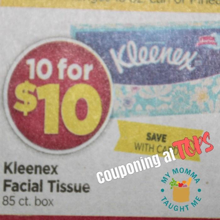 Kleenex Sale At Tops Markets
