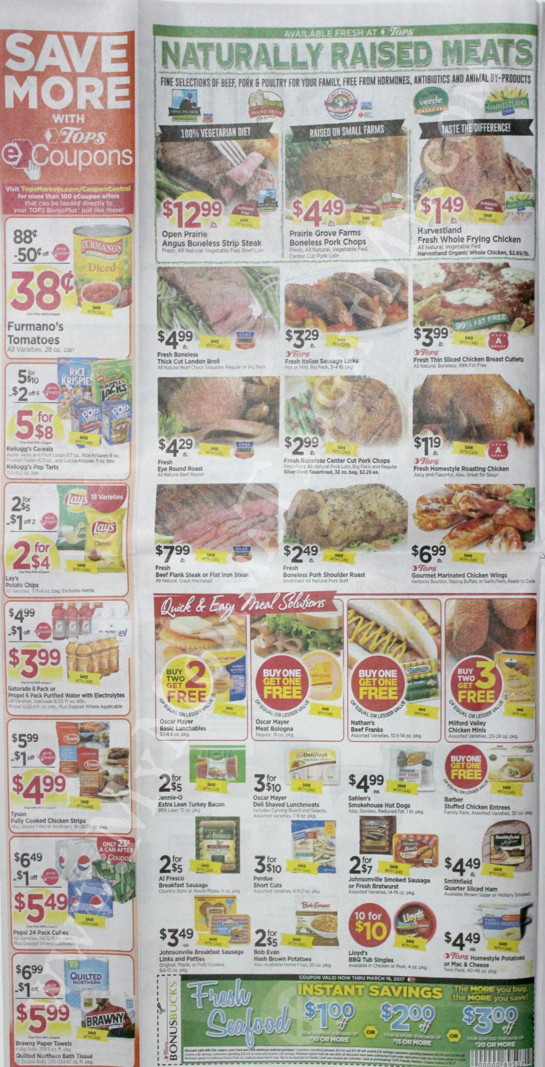 Tops Markets Ad Scan Week Of 3 12 17 To 3 18 17 Page 2