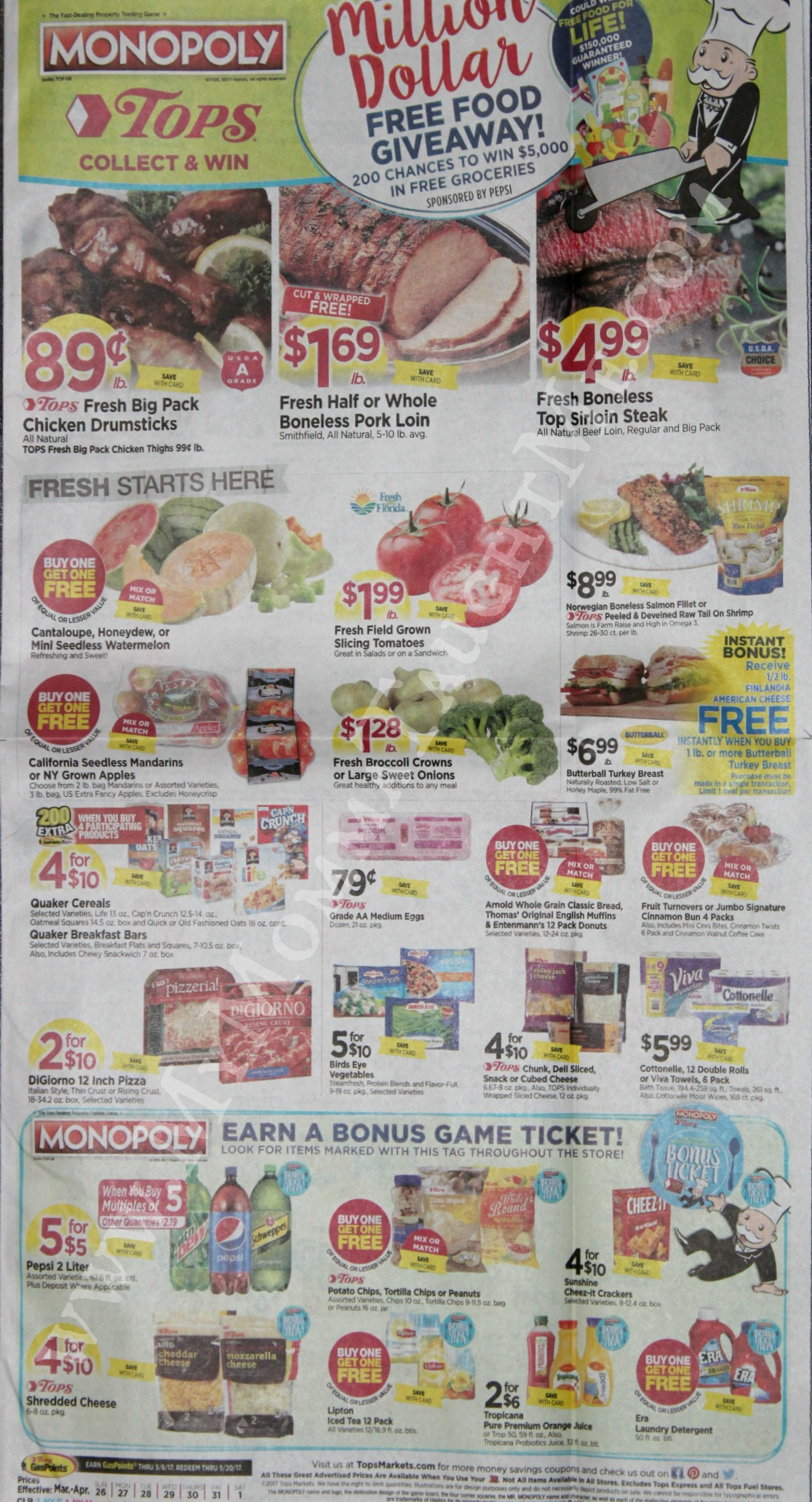 Tops Markets Ad Scan Week Of 3 26 17 To 4 1 17 Page 1
