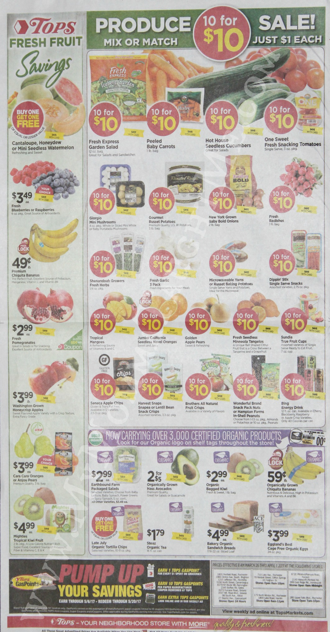 Tops Markets Ad Scan Week Of 3 26 17 To 4 1 17 Page 8