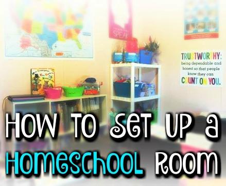 How To Set Up A Homeschool Room