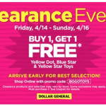 BOGO Clearance Event At Dollar General
