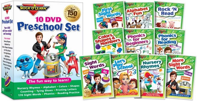 Preschool DVDs Set Of 10