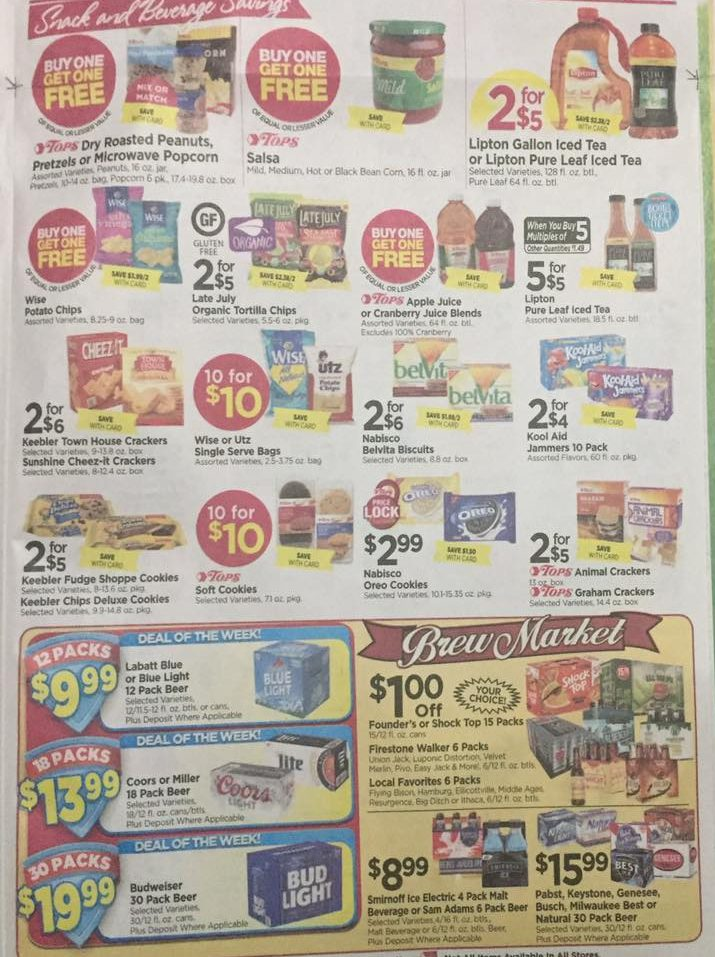 Tops Markets Ad Scan Week Of 4 16 17 To 4 22 17 Page 5b