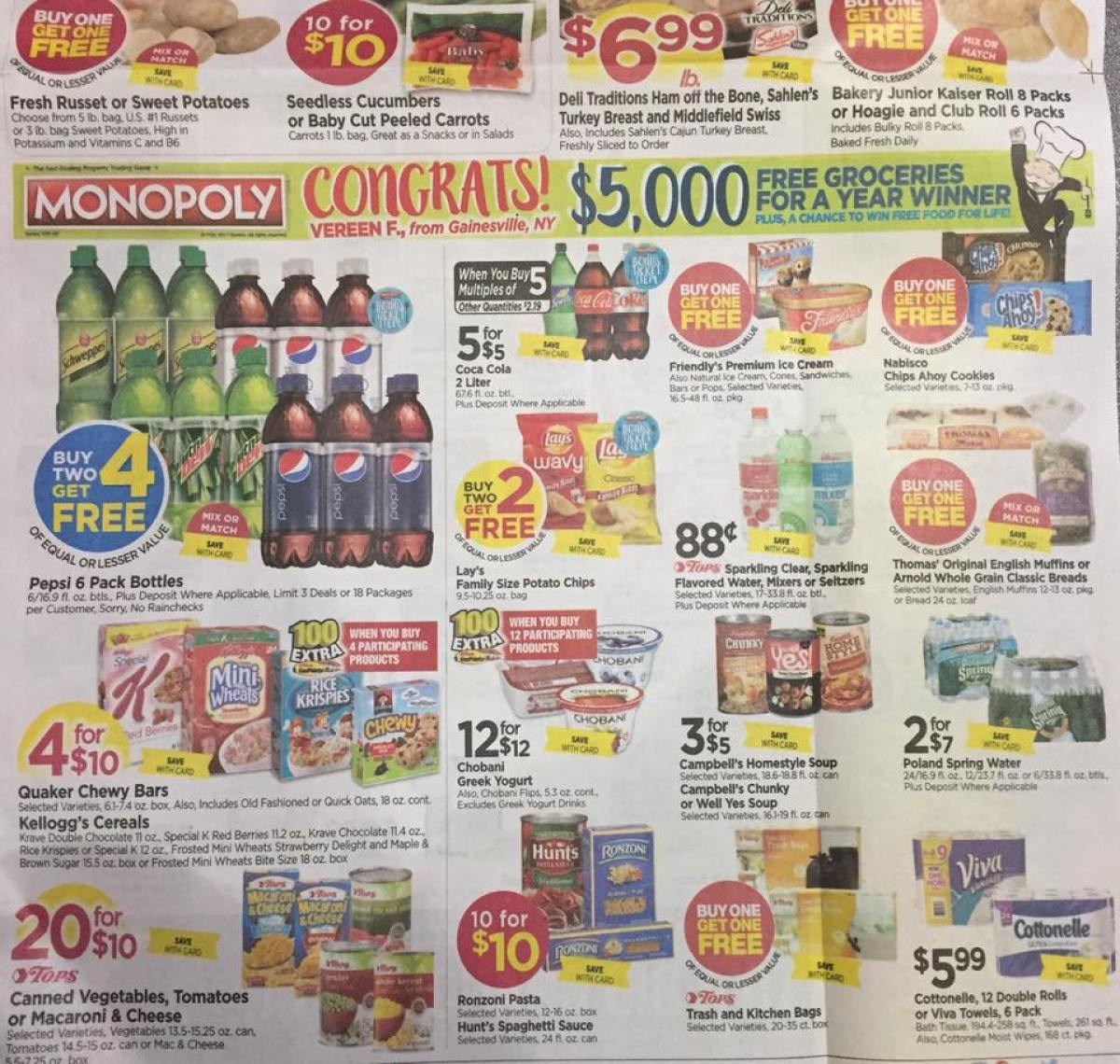 Tops Markets Ad Scan Week Of 4 23 17 To 4 29 17 Page 1b
