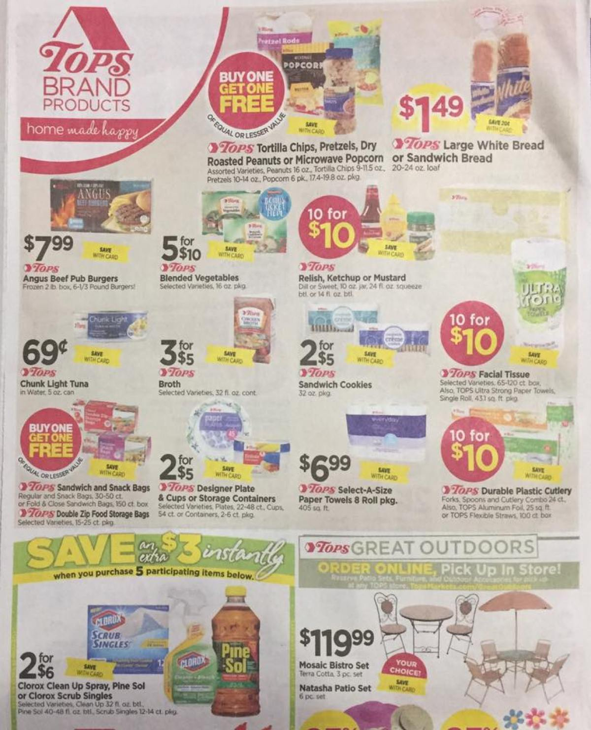 Tops Markets Ad Scan Week Of 4 23 17 To 4 29 17 Page 6a
