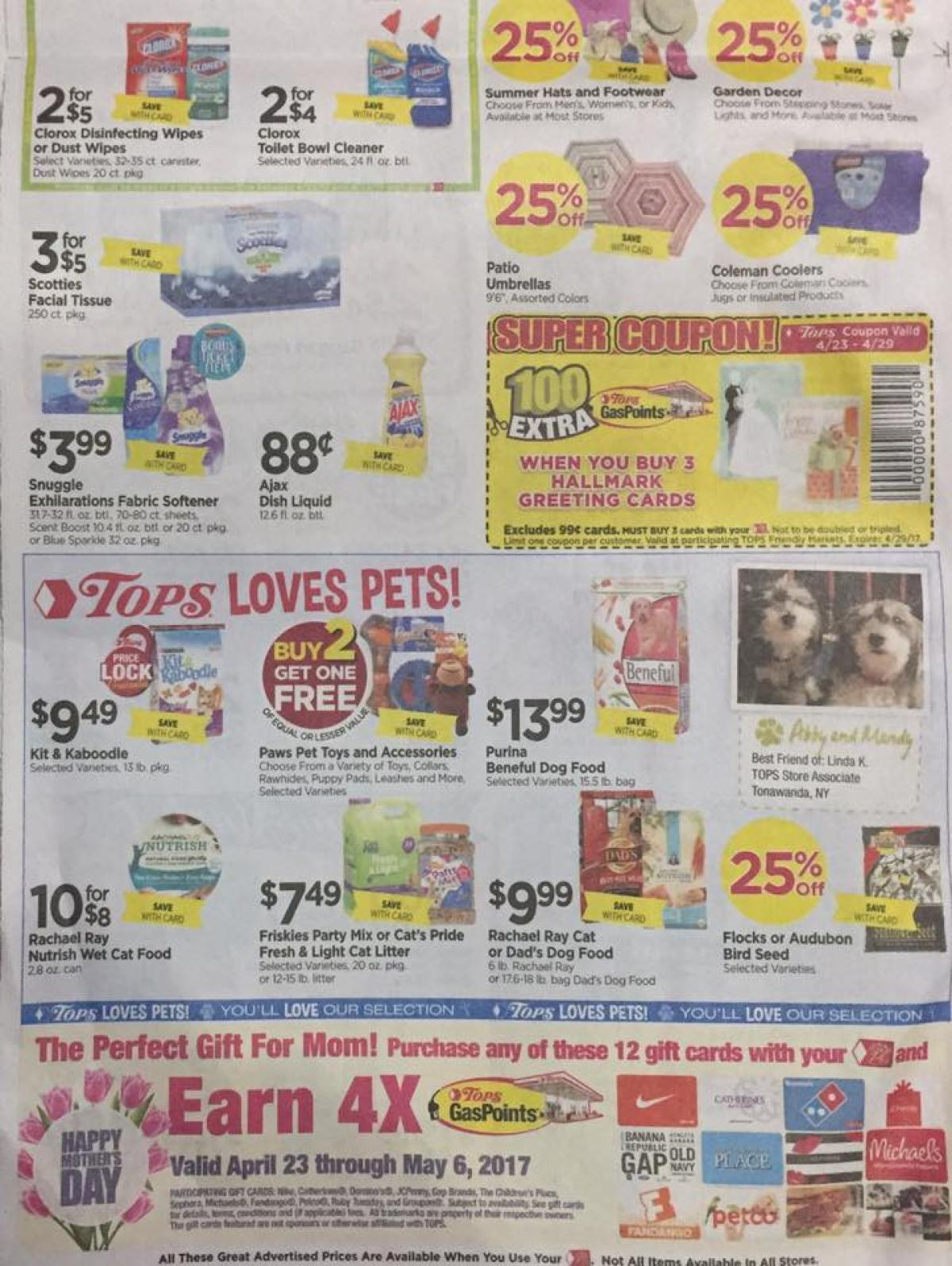 Tops Markets Ad Scan Week Of 4 23 17 To 4 29 17 Page 6b