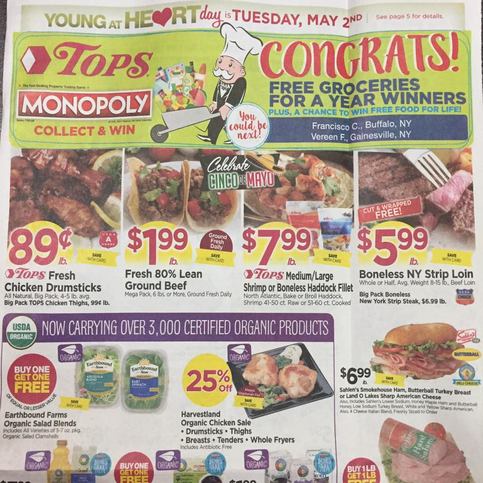Tops Markets Ad Scan Week Of 4 30 17 To 5 6 17 Page 1 A