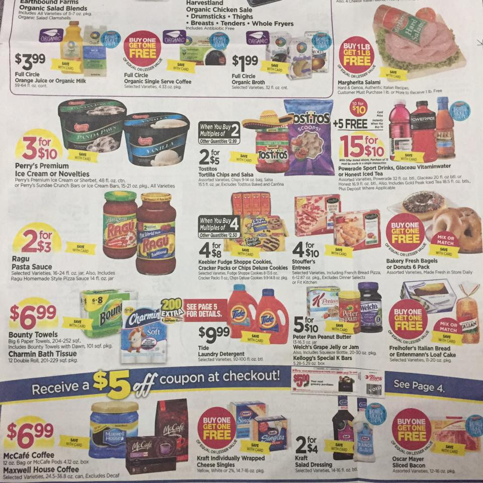 Tops Markets Ad Scan Week Of 4 30 17 To 5 6 17 Page 1b