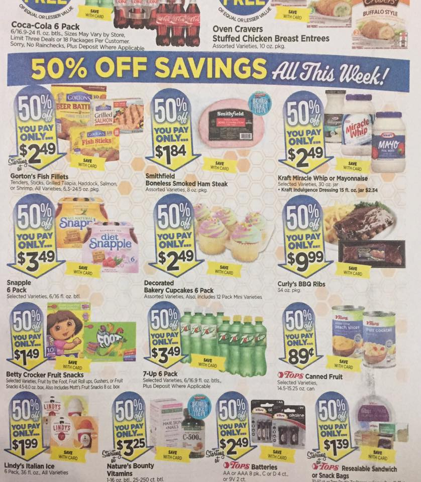 Tops Markets Ad Scan Week Of 4 30 17 To 5 6 17 Page W2