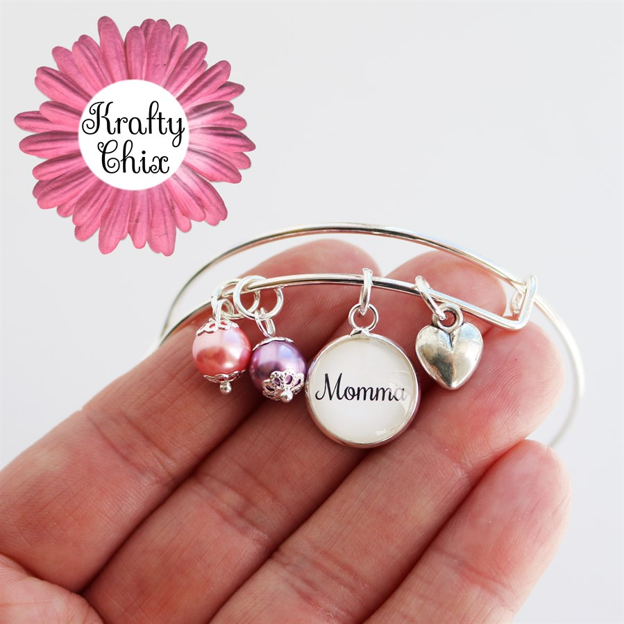 Mom Or Grandma Heart Bangles