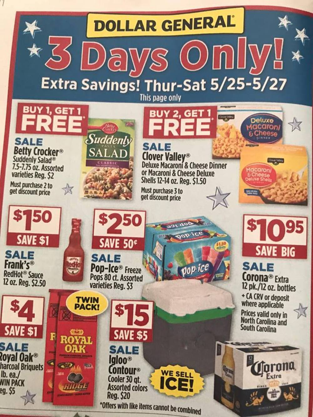 Dollar General Ad Week Of 5 21 3 Day Sale