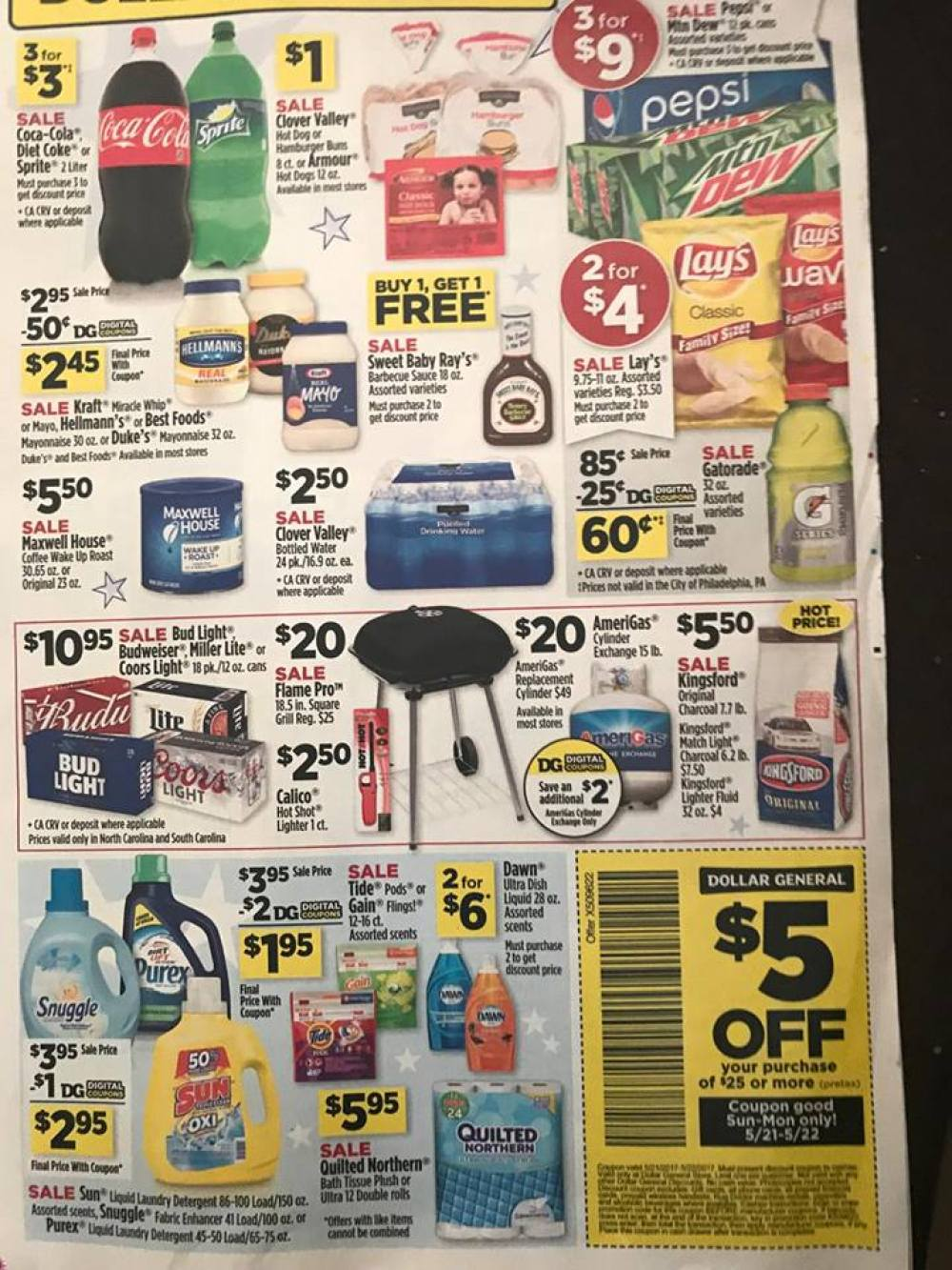 Dollar General Ad Week Of 5 21 Page 1a