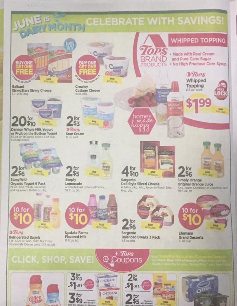 Tops Markets Ad Scan Week Of 5 28 17 To 6 3 17 Page 4a