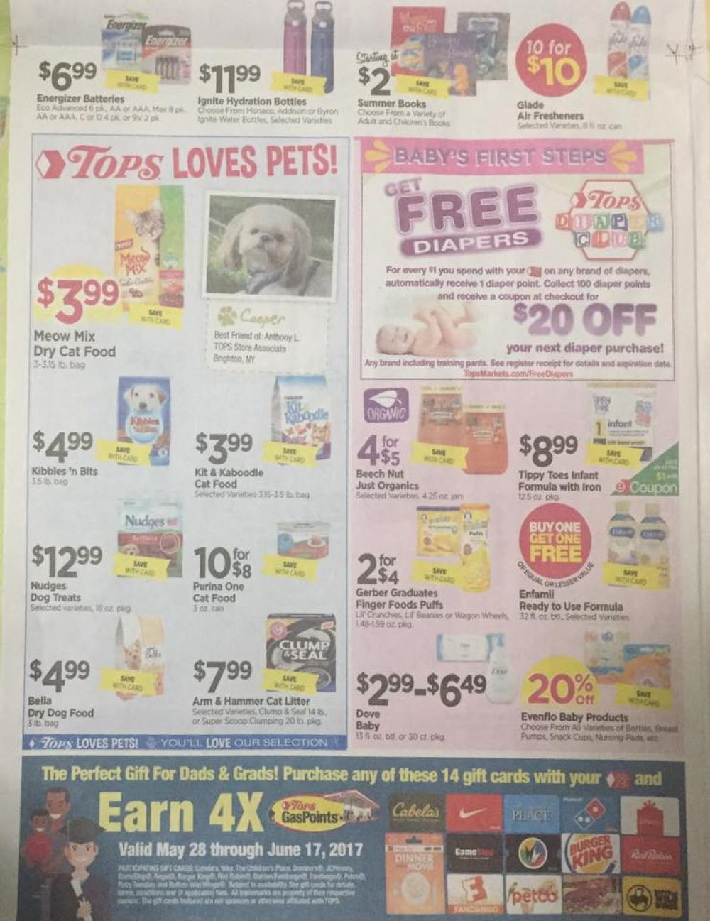 Tops Markets Ad Scan Week Of 5 28 17 To 6 3 17 Page 8b