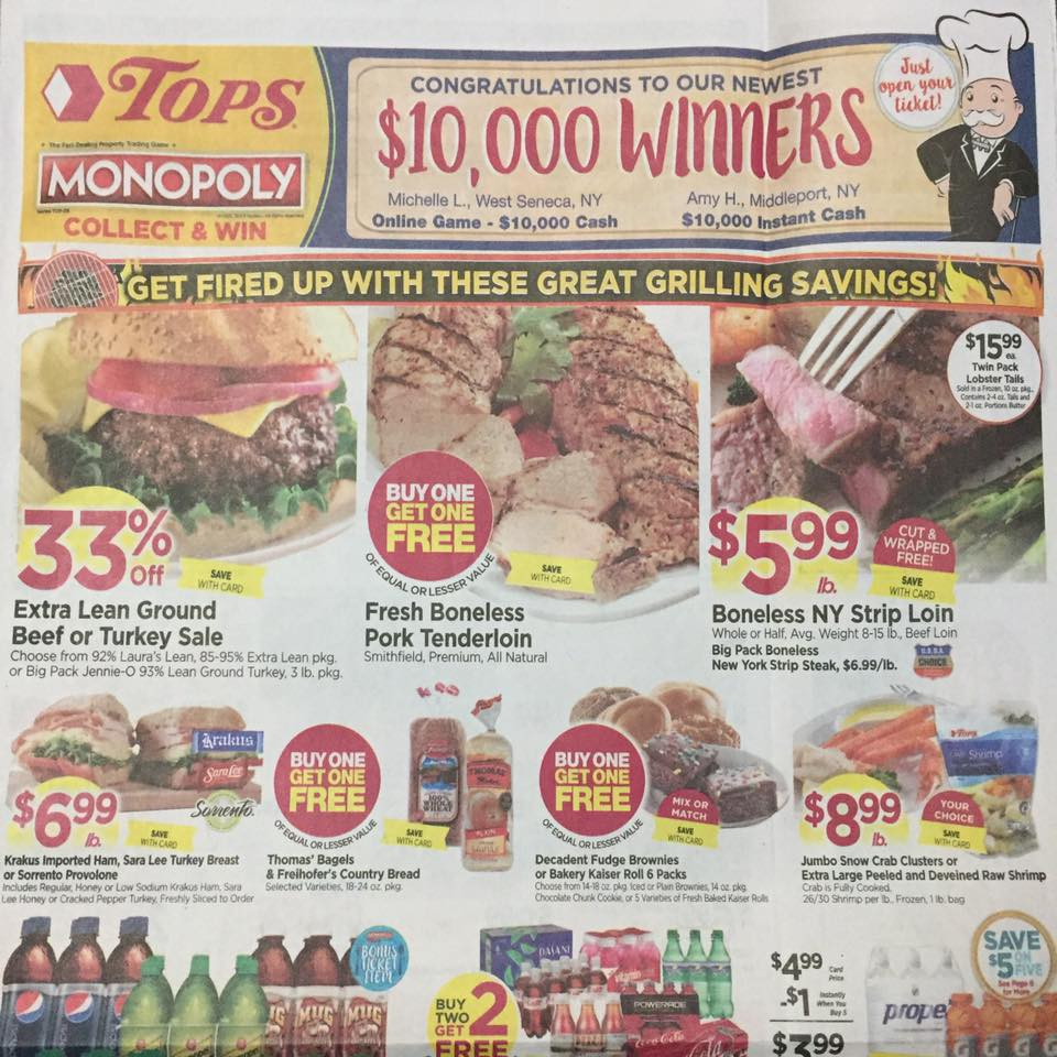 Tops Markets Ad Scan Week Of 5 7 17 To 5 13 17 Page 1a