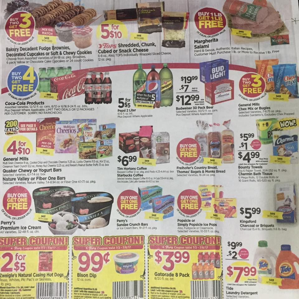 Tops Markets Ad Scan Week Of 7 2 Page 1a=b