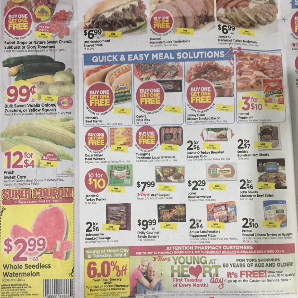 Tops Markets Ad Scan Week Of 7 2 Page 2b