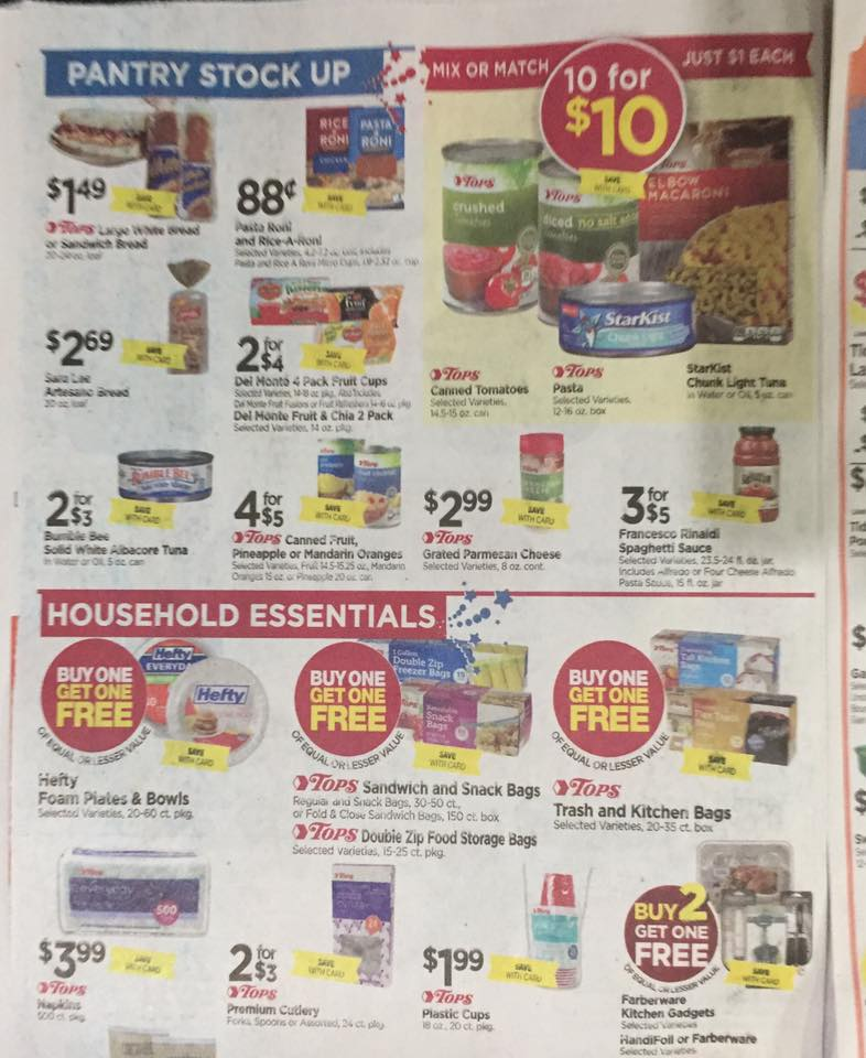 Tops Markets Ad Scan Week Of 7 2 Page 6a