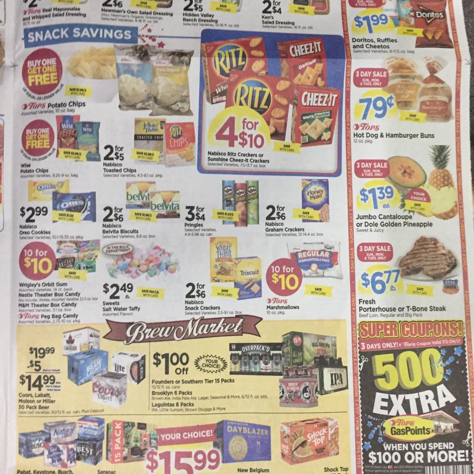 Tops Markets Ad Scan Week Of 7 2 Page 9b