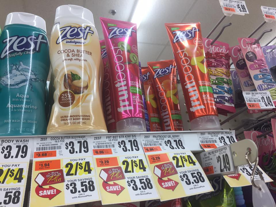 Zest Fruitboost Body Wash Sale At Tops