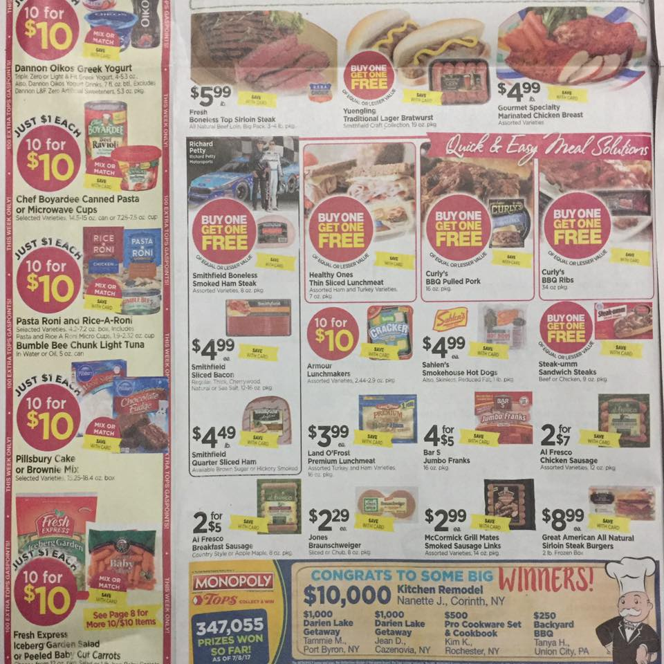 Tops Markets Ad Scan Week Of 7 23 Page 2b
