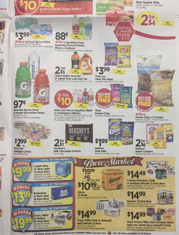 Tops Markets Ad Scan Week Of 7 23 Page 5b