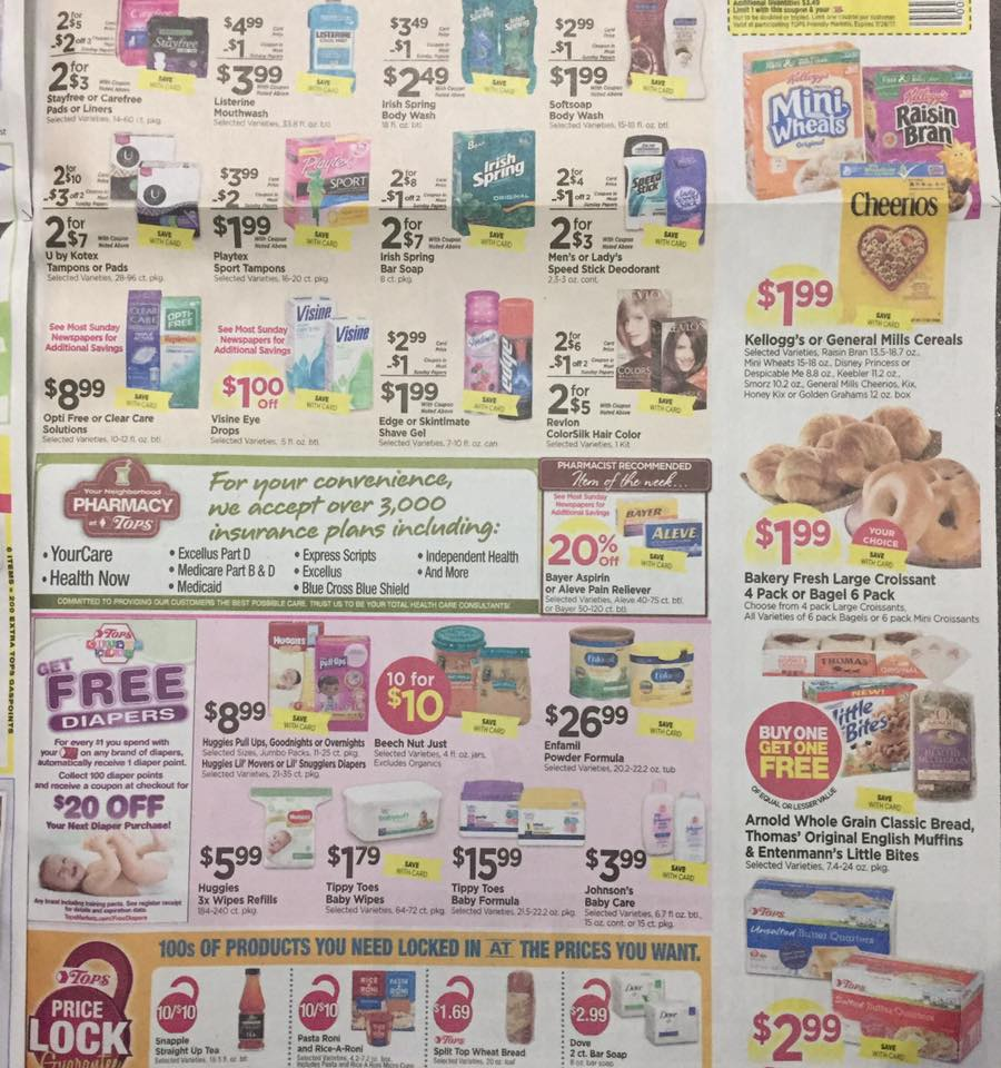 Tops Markets Ad Scan Week Of 7 23 Page 7b