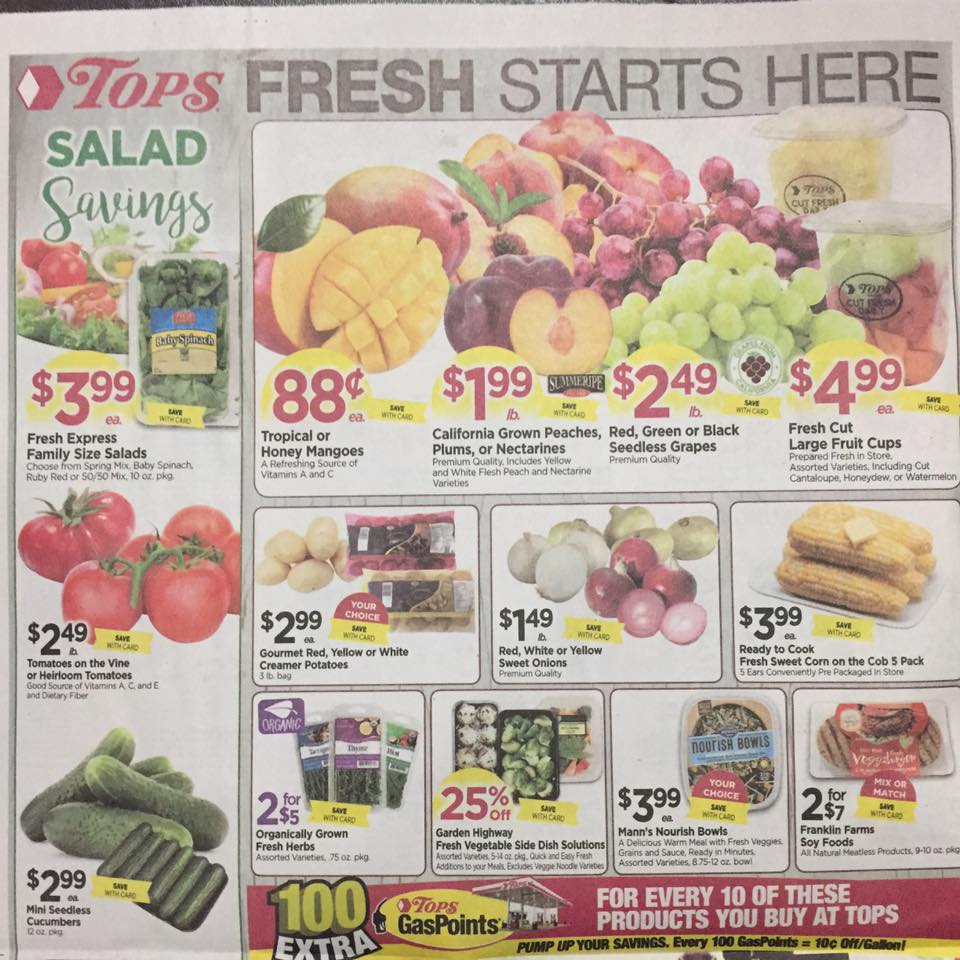 Tops Markets Ad Scan Week Of 7 23 Page 8a