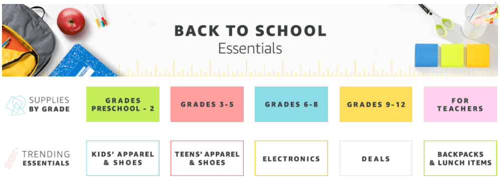 Back To School Online Shopping
