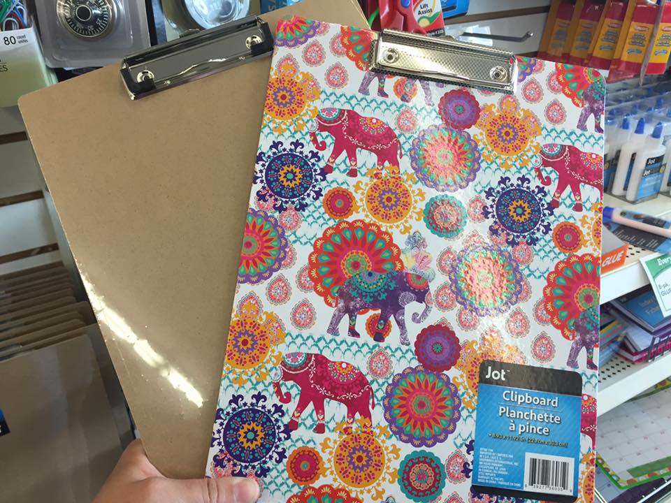Clipboards At The Dollar Tree