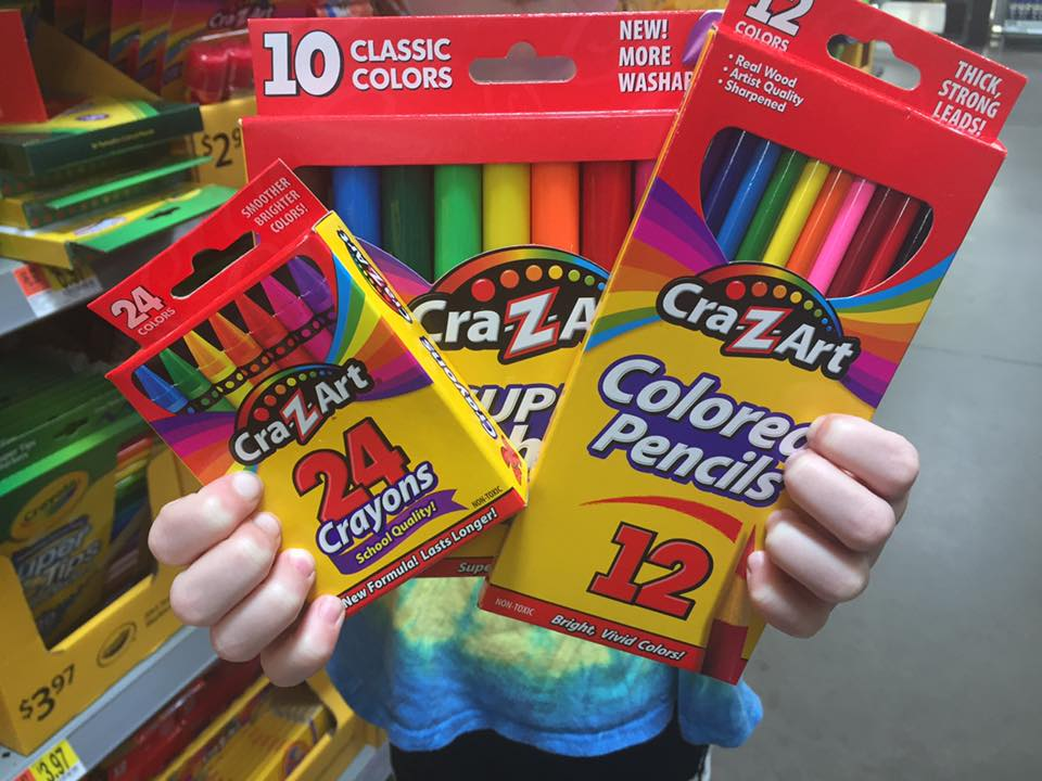 Crazy Art School Supplies At Walmart