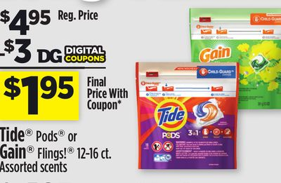 Gain Tide Pods Deal At DG