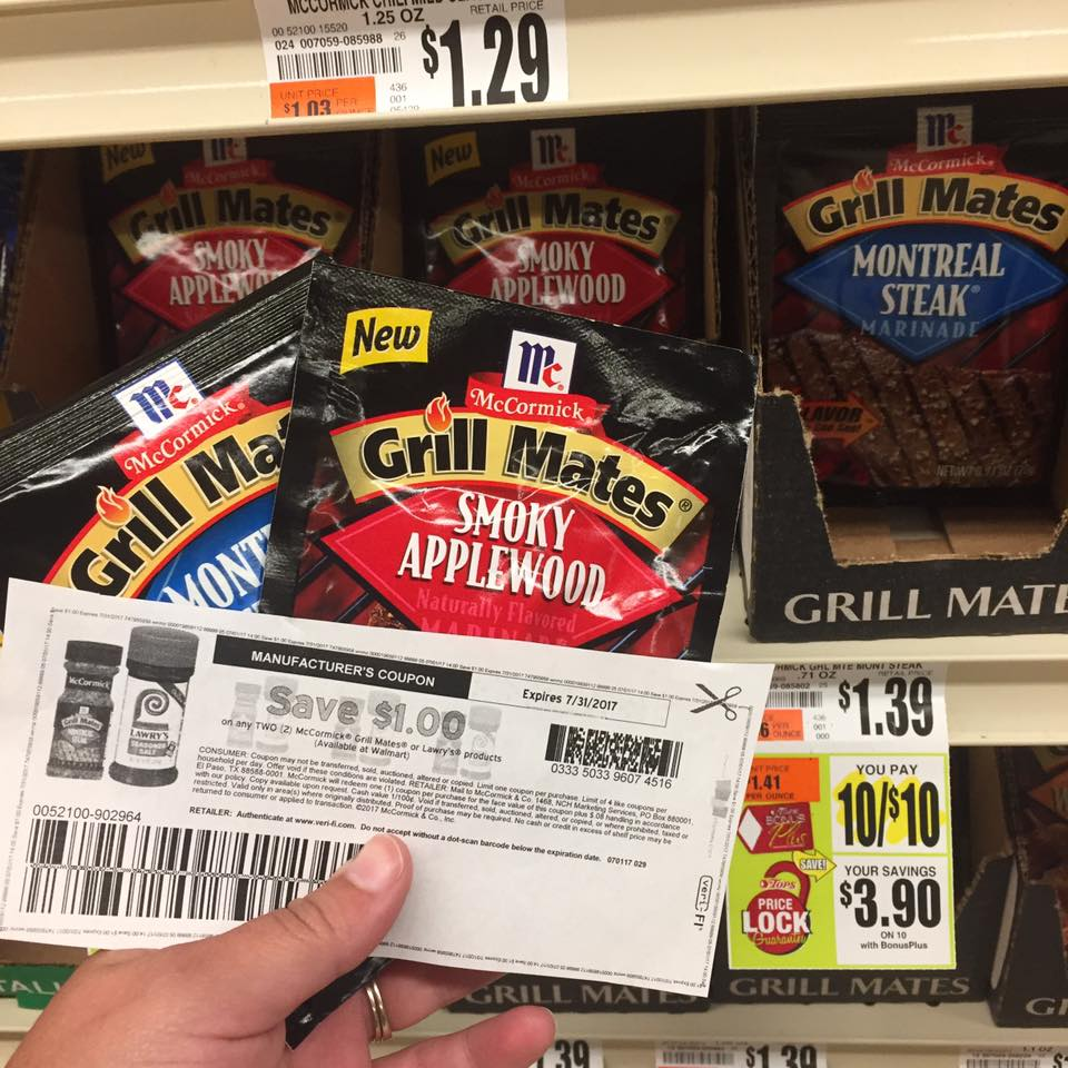 Grill Mates Packets At Tops $0 50