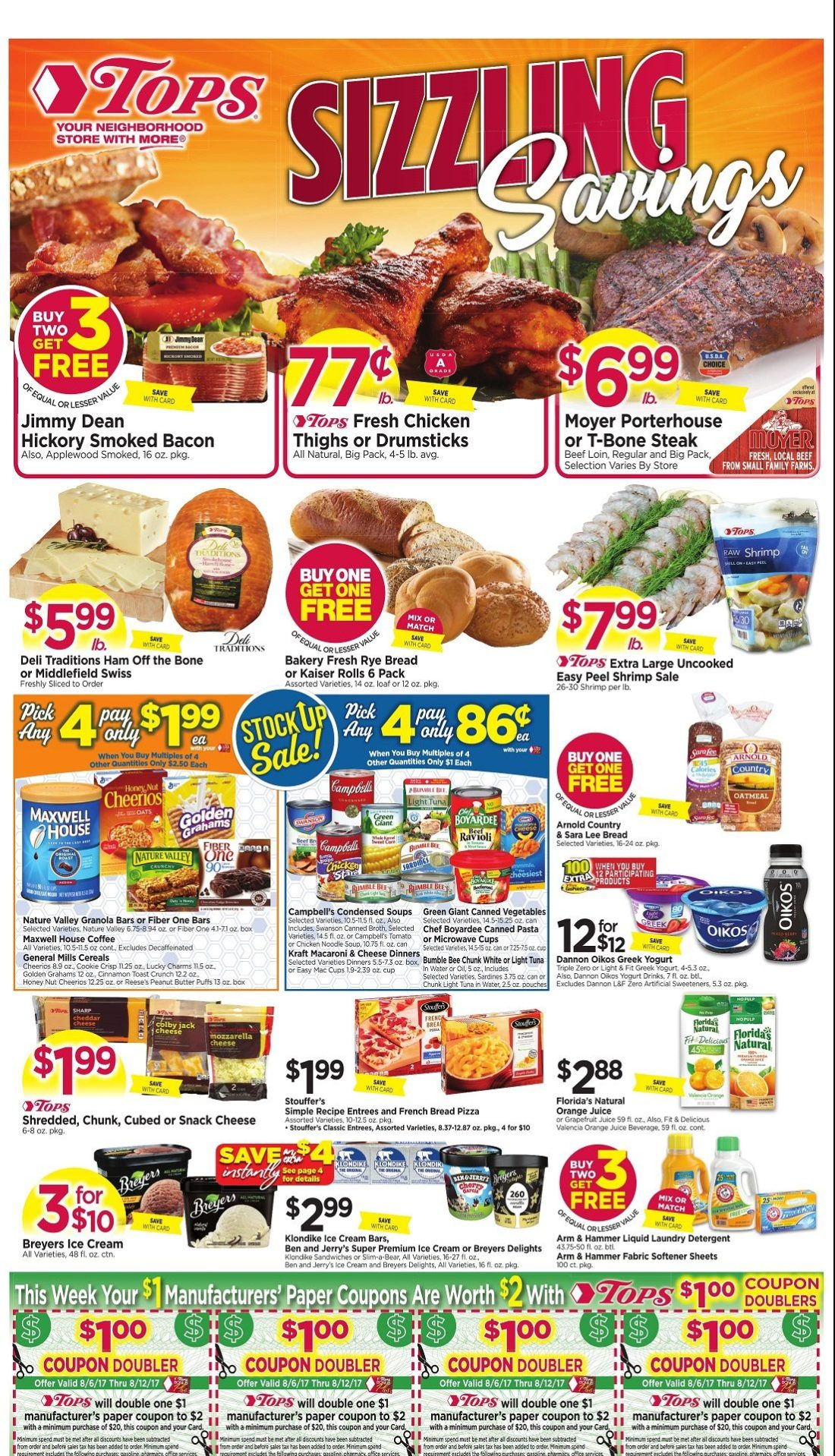 Tops Markets Ad Scan Week Of 8 12 Page 1