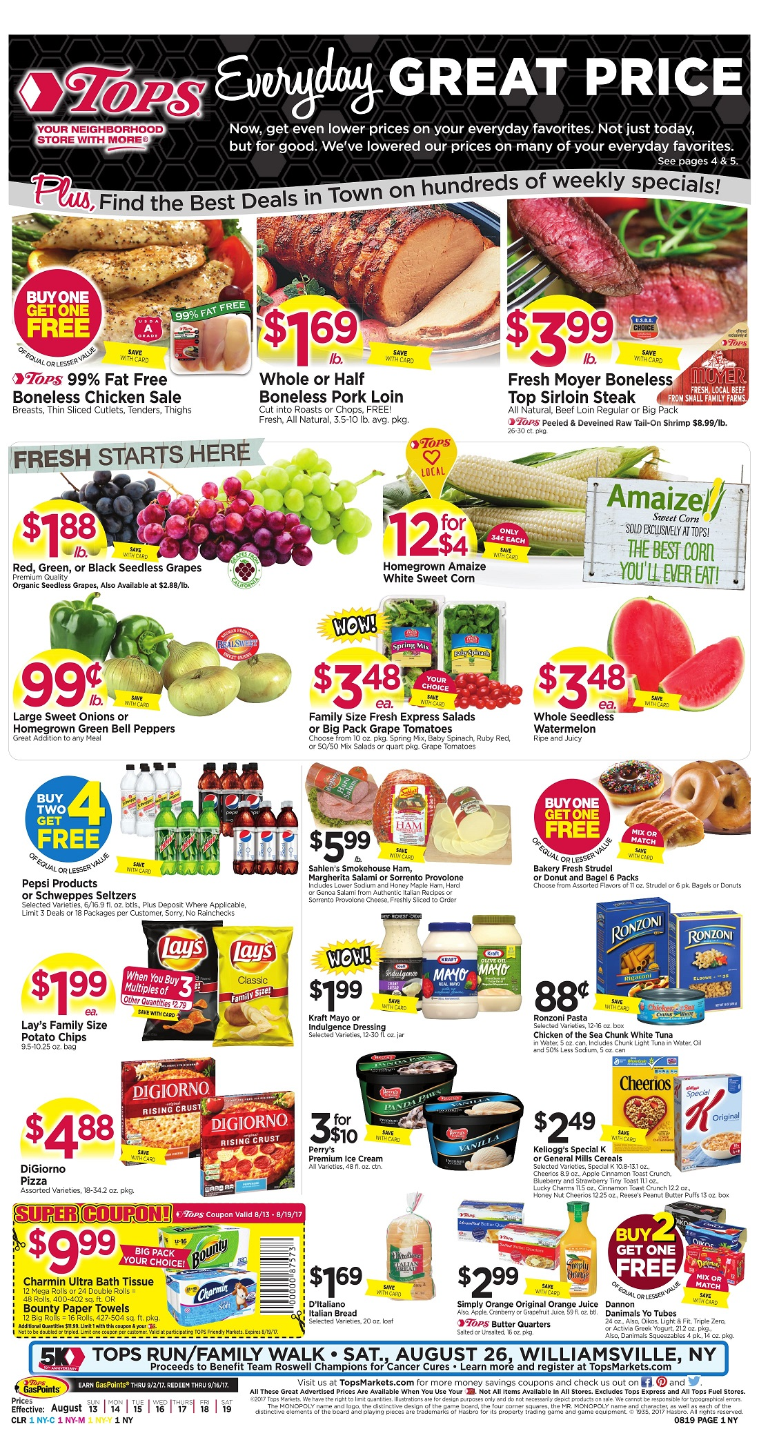 Tops Markets Ad Scan Week Of 8 13 Page 1