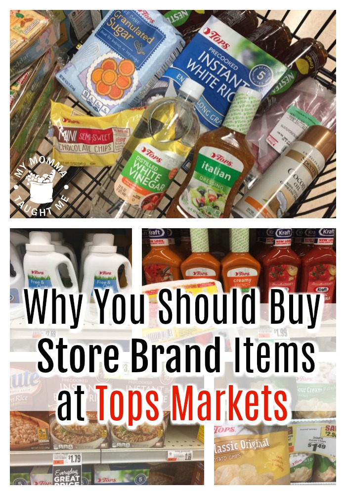 Why You Should Buy Store Brand Items At Tops Markets