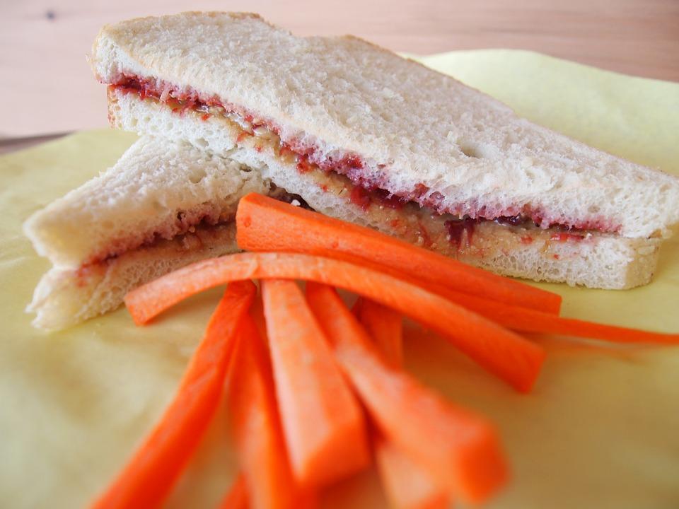 Peanut Butter Jelly kids school lunch