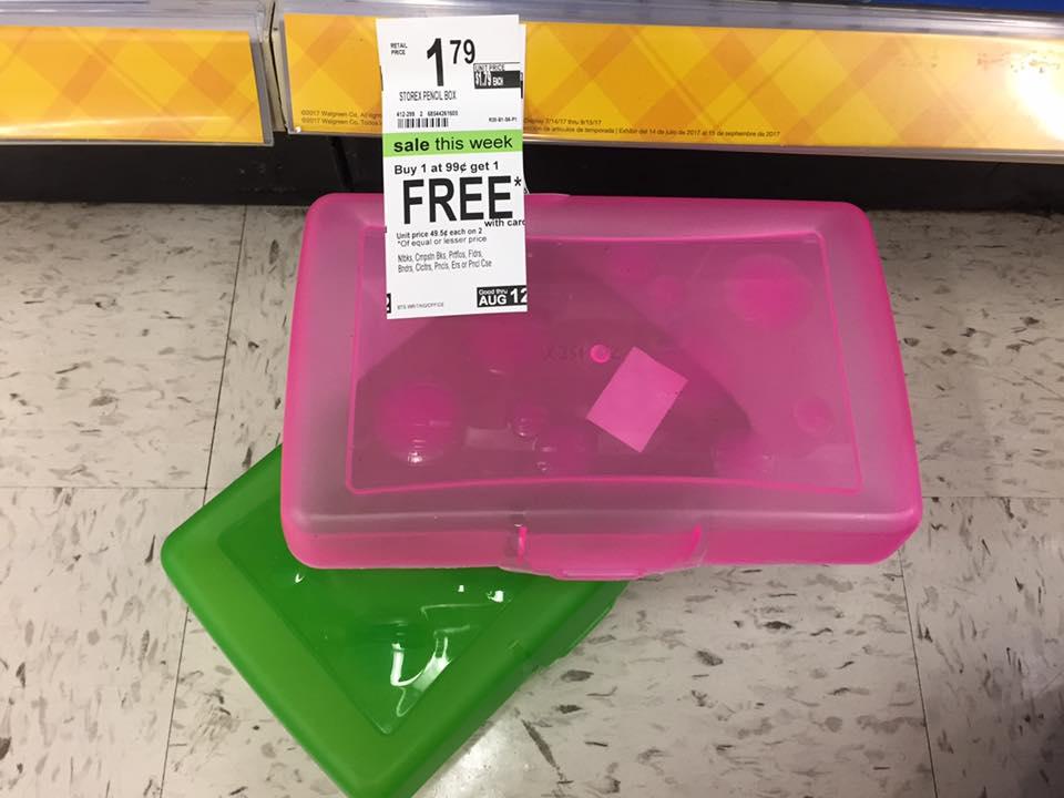 Pencil Box Bogo At Walgreens