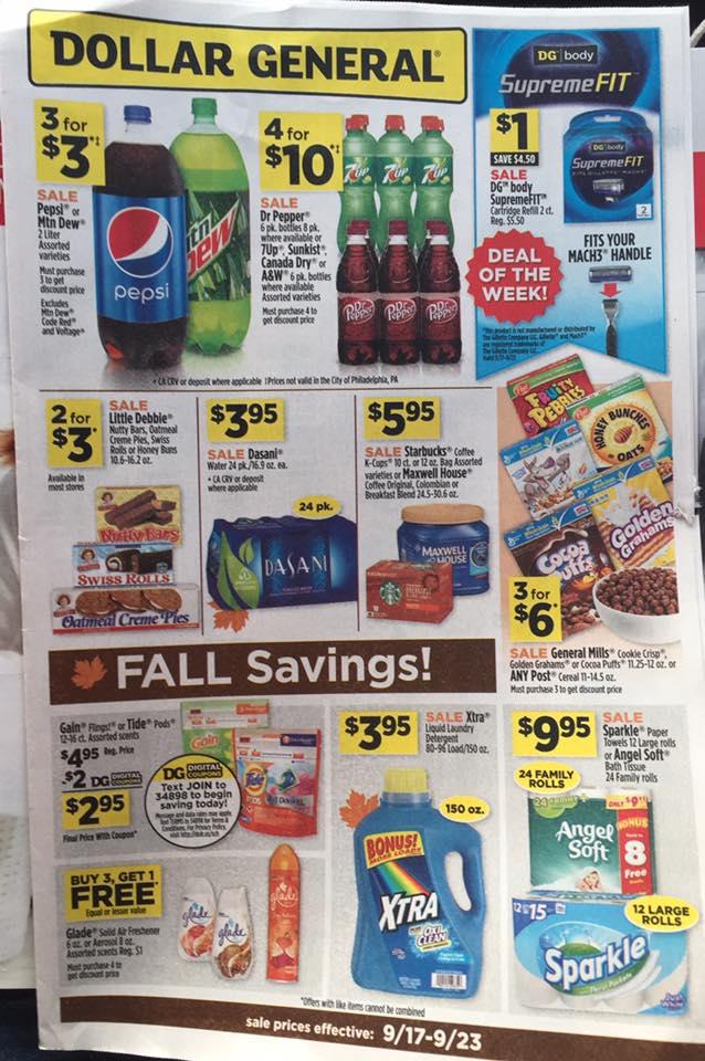 Dollar General Ad Week 9 17 Page 1